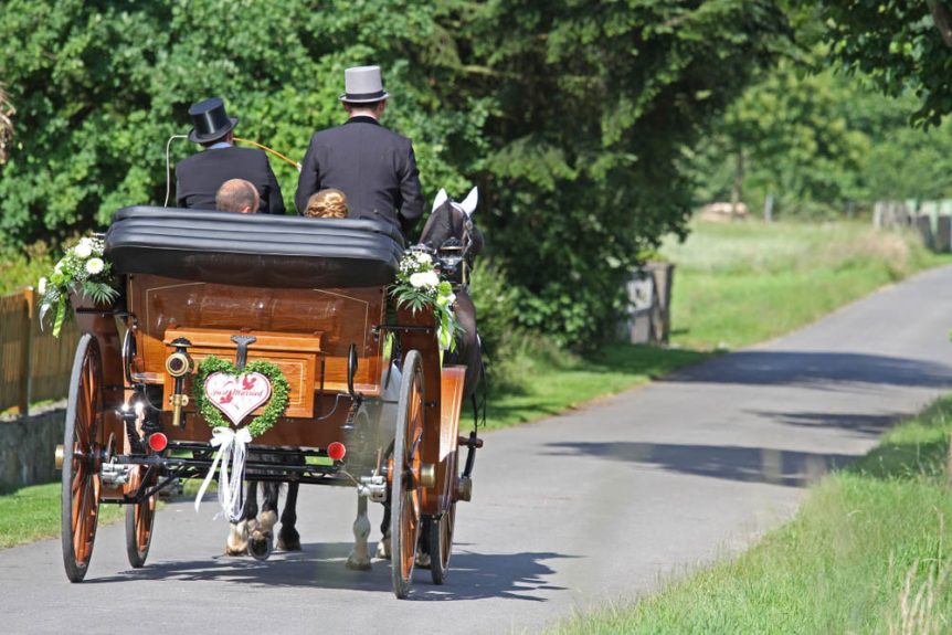 wedding carriage Wedding Lancashire